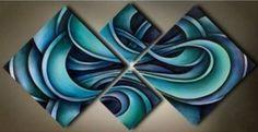 современный АБСТРАКТНЫЙ огромный стены искусства картина маслом на холсте (без в рамке) in Искусство, Предметы искусства от посредников, Картины | eBay