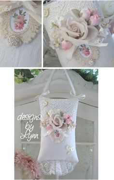 victorian shabby chic lace and bead work - Google Search