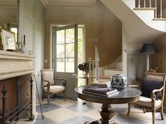 interior of garden folly and guest quarters of English manor house English Manor Houses, English Interior, Ivy House, Traditional Interior, Interior Photography, Decorating Small Spaces, Cottage Homes, Beautiful Interiors, Interior Design Inspiration