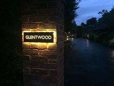 Signages meaning types of retail signage board diy outdoor business House Name Signs, House Names, Home Signs, Driveway Lighting, Exterior Lighting, Outdoor Lighting, Lighting Ideas, Name Plate Design, Name Board Design
