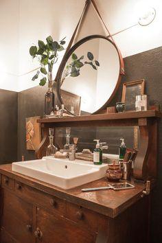bad ass bathroom sink in Scott & Kristan's Inspiring Arts District Loft House Tour House Design, Loft House, Home, Trendy Bathroom, Loft Apartment, Bathrooms Remodel, Bathroom Design, Bathroom Decor, Beautiful Bathrooms