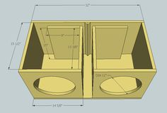Box Subwoofer 4 Speakers | Woodworking Project Ideas