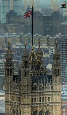 Le palais de Westminster, Londres