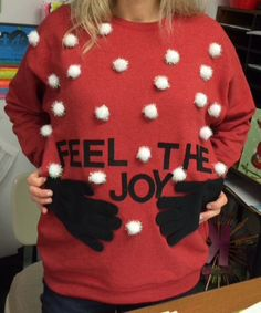 Pregnant Christmas sweater!