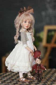 Art doll by Helena Oplakanskaуа Fairy Dolls, Bjd Dolls, Silicone Baby Dolls, Doll Home, Gothic Dolls, Personalized Gifts For Her, Polymer Clay Dolls, Pretty Dolls, Vintage Dolls