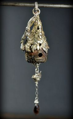Fairy Cottage Pendant by EAdornments on Etsy