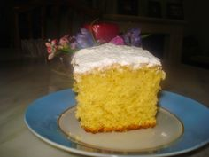 Greek Sweets, Desert Recipes, Cornbread, Vanilla Cake, Deserts, Food And Drink, Ethnic Recipes, Cakes, Beverages