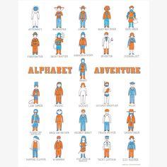 Alphabet Adventure Print  by Keiko Brodeur