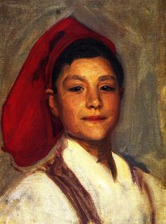 The Athenaeum - Head of a Neapolitan Boy (John Singer Sargent - )1879 Oil on canvas /46.99 x 34.93/ Private collection