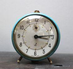 SALE French vintage Jaz alarm clock vintage decor by SAMANTHATENN