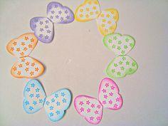 Butterflies Scrapbooking Embellishments flower 6 pcs by Wcards, $2.00