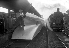 「シーネンツェッペリン」最高時速230kmのプロペラで進むアルミの列車、1931年、ドイツ Schienenzeppelin (V max. 230 km/h) propeller powered train, Berlin 1931