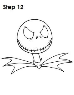 zero Nightmare Before Christmas Pumpkin Template | how to draw zero ...