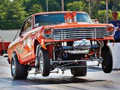 Chevy ll gasser Rat Rods, Super Chevy Magazine, Nhra Drag Racing, Auto Racing, Chevy Muscle Cars, Old Race Cars, Chevy Nova, Vintage Race Car, Drag Cars