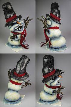 Evil Snowman 13 by FeltedChicken, via Flickr