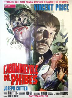Do yourself a favor and watch this movie this Halloween season. The Abominable Dr. Phibes (1971). Forget the modern day rip-offs (Saw, Hostel, etc).