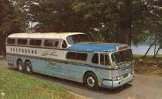 I traveled from Long Beach CA to Neodesha Kansas on a bus like this in the summer of 1975.