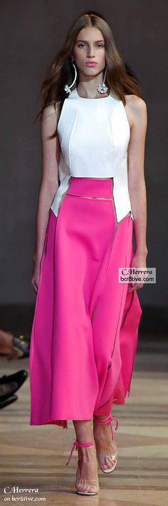 """Carolina Herrera Spring 2016 """"And the LORD said to Moses, """"Go to the people and consecrate them today and tomorrow. Have them wash their clothes."""