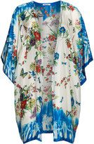 Johnny Was Plus Size Printed silk kimono jacket