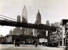 Berenice Abbott - Waterfront: South Street (New York City, October 25th, 1935).