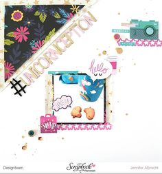It's a new month and this means there is a new sketch over at @scrapbookwerkstatt. This one is by @addglitterandlove and I used it to play around with the new Glitter Girl collection by @shimelle.  Check out the Scrapbook Werkstatt inspiration gallery for the sketch and a chance to win a coupon.  #sbwdesignteam #sbw #scrapbookwerkstatt #scrapbooking #papercraft #papercrafting #craft #crafting #diy #scrapbooklayout #patternedpaper #memorykeeping #sketch #septembersketch