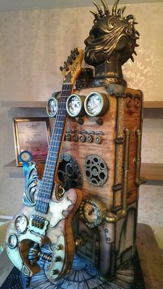 "steampunktendencies: ""The most awesome steampunk cake ever? Artist Kerry Rowe. www.tsu.co/steampunktendencies/5969269 """