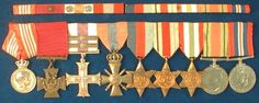 Major Anders Frederik Emil Victor Schau Lassen´s awards are displayed at The Museum of Danish Resistance 1940-1945, Copenhagen.