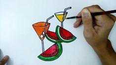 Dạy bé học vẽ đơn giản - Làm NTN để vẽ ly nước hoa quả - Hướng dẫn vẽ cố...