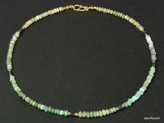 Opal - Kette, Andenopal in Blau - ein Designerstück von steinRausch bei DaWanda