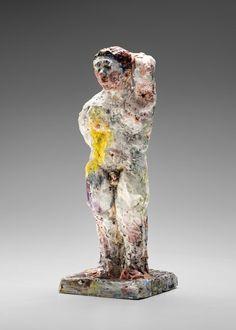 Statue 2015 by Stephen Benwell Ceramic Sculpture Figurative, Contemporary Ceramics, Still Life, Lion Sculpture, Pottery, Statue, Art, Ceramica, Pottery Marks