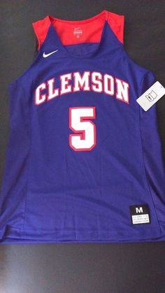 8d39801af2e $10 Nike Clemson Tigers Elite Enforcer Basketball Jersey Women's Md Purple  Orange #5 #Nike