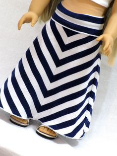American Girl Doll Clothes Striped Yoga Style Maxi by AvannaGirl, $25.00