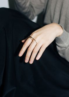 Wrapped wire double ring, chic minimal jewellery // Whisper