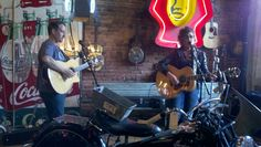 Amy and Jeremy Dean playing at Antique Archiology (American Pickers) in Nashville