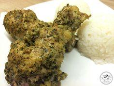 Homemade Parmesan Chicken...chicken, parmesan, drumsticks, garlic, parsley, oregano, basil, provence herbs