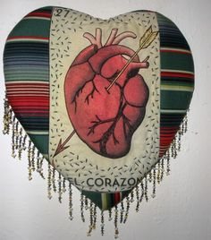 Chicana creating Art through chaos: heart of hearts