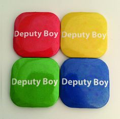 32mm Square Button Badge - Deputy Boy – London Emblem
