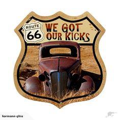 Route 66 Retro Tin Sign | Trade Me