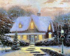Thomas Kinkade Winter - winter Fan Art