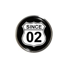 Since 02 fridge #magnet 2002 #birth #anniversary year gift route 66 style 60s new,  View more on the LINK: http://www.zeppy.io/product/gb/2/251576022274/