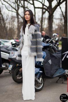 #New on #STYLEDUMONDE  http://www.styledumonde.com/  with @taookamoto #NataliaVodianova at #paris #fashionweek #pfw #fw14 #chloe #outfit #ootd #streetstyle #streetfashion #streetchic #snobshots #streetlook #fashion #mode #style