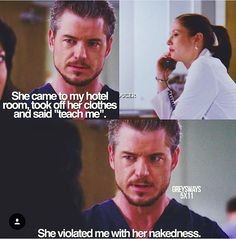 This is 😂 hilarious 😂 Greys Anatomy Funny, Grays Anatomy Tv, Grey Anatomy Quotes, Grey's Anatomy, Lexie And Mark, Tv Show Couples, Greys Anatomy Characters, Tv Quotes, Movies