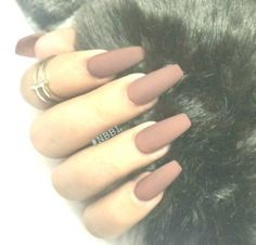 Brown Matte nails #brown #matte #Nails,  #Brown #Matte #MatteNagellackDesigns #Nails