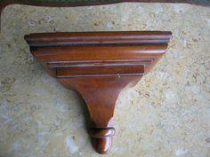 Vintage Pine Shop Original Wooden Wall Bracket Plate Holder   eBay Wooden Brackets, Wall Brackets, Plate Holder, Wooden Walls, Pine, Plates, The Originals, Tableware, Ebay