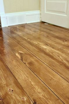The Creek Line House: How to Install Beautiful Wood Floors Using Basic Unfinished Lumber @Ty Free