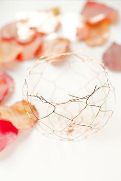copper wire bowl DIY by lebenslustiger.com, Kupferdrahtschale Anleitung von Lebenslustiger.com
