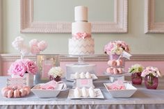 Stunning cake display  Cake: Asma at The Sugared Saffron Cake Co. Planning and styling: Andri at Always Andri Wedding Design Flowers: Jodie at Boutique Blooms  Stationery: Lisa at Paperknots Macarons: Reshmi at Anges de Sucre Photography: www.myheartskipped.co.uk