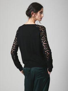 Wool Burnout Lace Sweater by Nina Ricci at Gilt