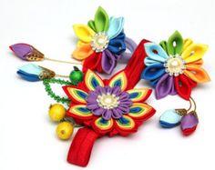 Kanzashi flower | Etsy IT