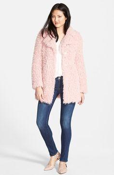 GUESS Faux Fur Coat, Pleione Top & Paige Denim Jeans available at #Nordstrom